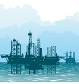 The oil-producing platforms vector