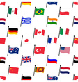 color flags of different country seamless pattern vector image
