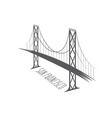 San Francisco-Oakland Bay Bridge vector image