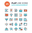 Data Management Icons vector image