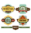 set of grunge retro badges vector image vector image