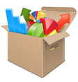 Carton Box with Statistics vector image