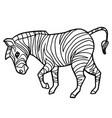 cartoon cute zebra coloring page vector image