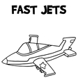 Fast jets with hand draw vector image
