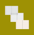 flat icon on stylish background school notebooks vector image