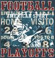 Football playoffs vector image
