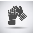 Soccer goalkeeper gloves icon vector image