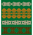 Celtic embellishments and ornaments vector image vector image