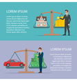 Save money for car and home asset property by vector image