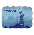 with statue of Liberty in America vector image