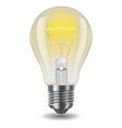 shiny classic light bulb vector image