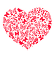 Heart of butterflies vector image vector image