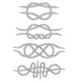 Knots Doodle Isolated Linear design vector image