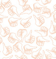 Hand Drawn Thumbs up Seamless Pattern vector image
