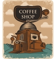 coffee grinder coffee shop vector image