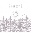 forest beautiful silhouette vector image vector image