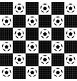 Football Ball Black White Chess Board vector image