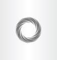 Black circle wave background design element vector image