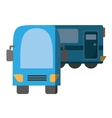 blue train cabine vacation travel shadow vector image