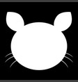 cat head the white color icon vector image