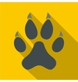 Cat paw icon flat style vector image