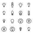 line bulbs icon set vector image