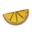 orange half fruit vitamin nutrition icon vector image