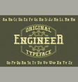 original label typeface vector image