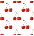 Red cherry seamless background vector image