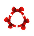 Red ribbons in circle vector image