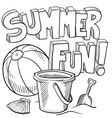 doodle summer fun vector image vector image