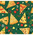 Seamless texture of a pizza vector image