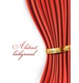 curtain background vector image vector image