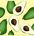 seamless avocado pattern tile green vegetable vector image vector image