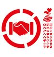 handshake diagram icon with lovely bonus vector image