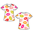 t-shirt with lips vector image
