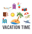 vacation time concept vector image