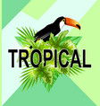 geometric tropical background vector image vector image