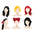 hair styles vector image