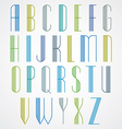 Elegant Tall Striped retro style artistic font vector image