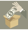 Money in box vector image vector image