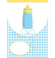 babie card with bottle vector image