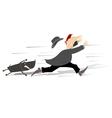The aggressive dog vector image