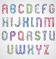 Pattern glamorous colorful fashionable font upper vector image