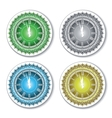 Set of isolated colorful wall clock vector image