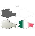 Oaxaca blank outline map set vector image