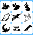 birds icons set vector image