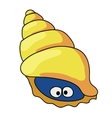 Cartoon shell colored vector image