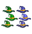 cartoon witch hats vector image