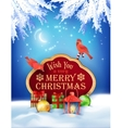 Christmas Winter Night Background vector image